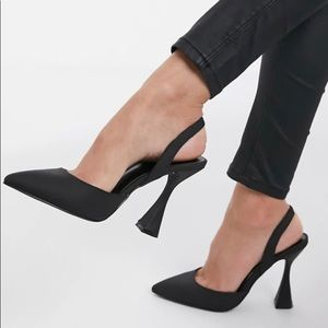 Pointed Toe Slingback Heels, NEW With Box